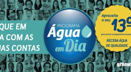 Campanha facilita renegociação para consumidores em débito com a conta de água
