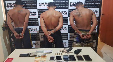 Preso com armas trio suspeito de roubar caminhonete e assaltar agência dos Correios em Lagoa da Prata