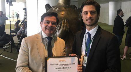 Deputado Eduardo Barbosa recebe Prêmio Excelência Parlamentar do Ranking dos Políticos