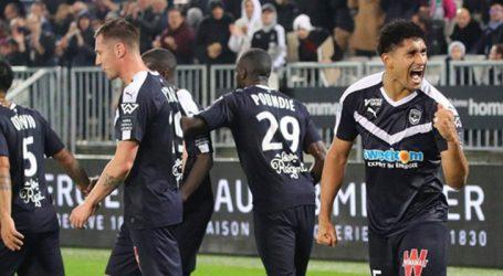 Pablo festeja gol da vitória do Bordeaux no Campeonato Francês