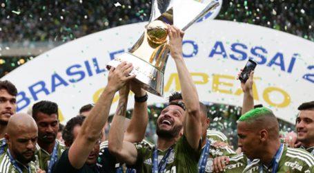Palmeiras lidera Ranking da CBF e Cruzeiro é segundo