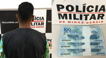 Suspeito é preso com notas de R$ 100,00 falsas em Nova Serrana