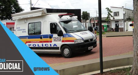 Assaltante armado e encapuzado rouba celulares e dinheiro de vítimas em bar no Santos Dumont