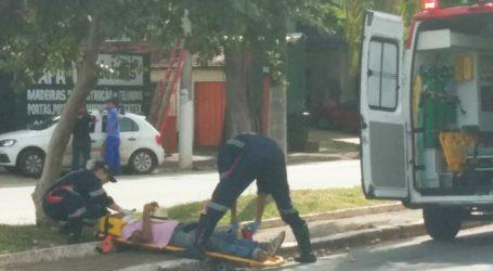 Motociclista atropela homem que atravessava faixa de pedestres na Presidente Vargas e foge sem prestar socorro