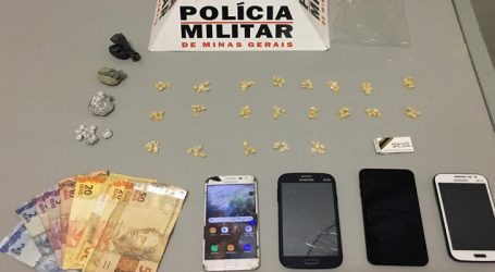 Suspeitos de envolvimento com o tráfico flagrados com 115 pedras de crack e maconha no Santos Dumont