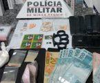 Suspeitos presos em Formiga com LSD, ecstasy, cocaína, maconha e dinheiro
