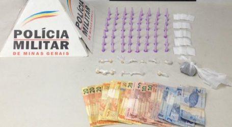 Suspeitos de tráfico flagrados com crack, maconha e cocaína, durante operação em Nova Serrana