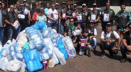 Moto clube realiza campanha e doa 300 pacotes de fraldas geriátricas para a Cidade Ozanam